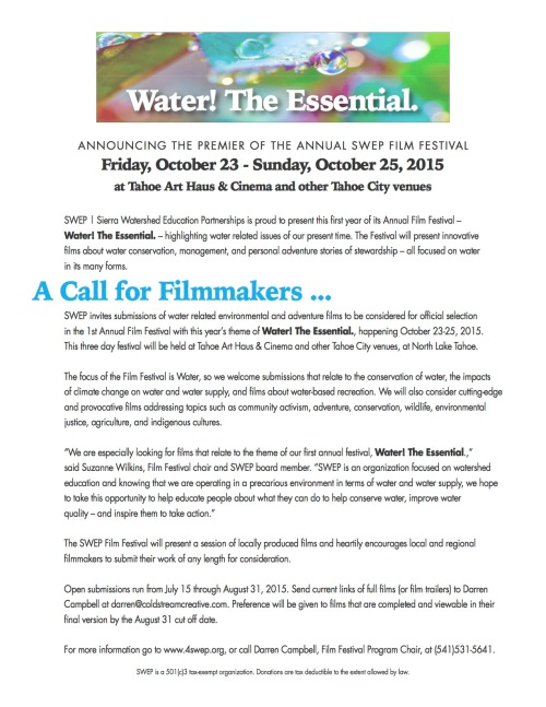 Call for Films